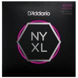 D'Addario Set Long Scale Regular Light 5-String 45-130