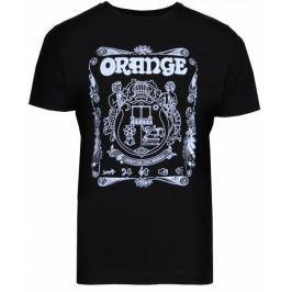 Orange Crest T-Shirt Black Medium