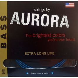 Aurora Premium 5-String Bass Strings 45-125 Purple