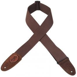 Levys MSSC8 Cotton Guitar Strap, Brown