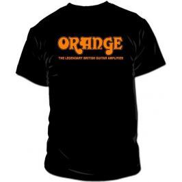 Orange Classic Black T-Shirt Large