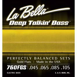 LaBella 760FGS Deep Talkin' Bass Gold Flats Standard 45-105