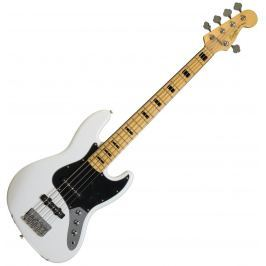 Fender Squier Vintage Modified Jazz Bass V 5 String Olympic White