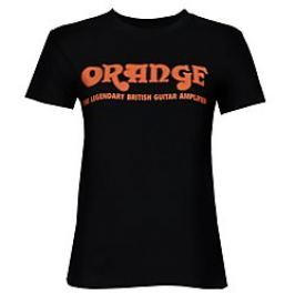 Orange Classic Ladies Black Orange T-Shirt Medium