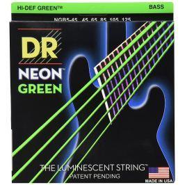 DR Strings DR Neon Green Bass 5 String Medium