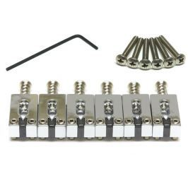 Graphtech PG-8000-0C String Saver Strat/Tele Style Saddles Chrome