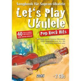 HAGE Musikverlag Let's Play Ukulele Pop Rock Hits (2 CDs)