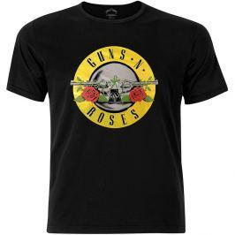 Rock Off Guns N Roses Circle Logo Fog Foil Mens Black T Shirt: XL