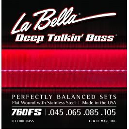 LaBella 760FS Deep Talkin' Bass Flats – Standard 45-105