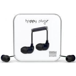 Happy Plugs In-Ear Black Małe słuchawki douszne