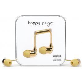 Happy Plugs In-Ear Gold Deluxe Edition Małe słuchawki douszne