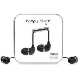 Happy Plugs In-Ear Black Saint Laurent Marble Małe słuchawki douszne
