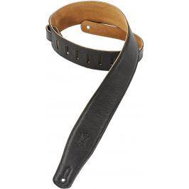 Levys M26GF Garment Leather Guitar Strap, Black