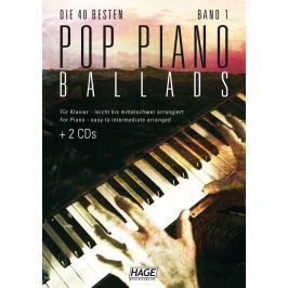 HAGE Musikverlag Pop Piano Ballads 1 (2x CD)