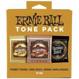 Ernie Ball 3314 Acoustic Tone Pack 11-52 Struny średnio twarde .011