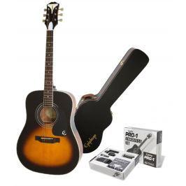 Epiphone PRO-1 Plus Acoustic Vintage Sunburst SET