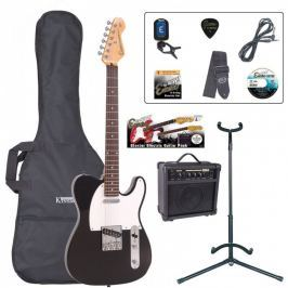 Encore EBP-E2BLK Electric Guitar Outfit Gloss Black