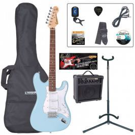 Encore EBP-E6LB Electric Guitar Outfit Laguna Blue
