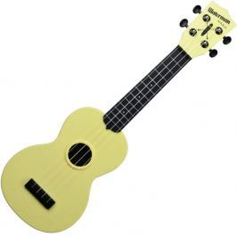 Kala Waterman Soprano Pale Yellow Matte Black Side and Back Ukulele sopranowe
