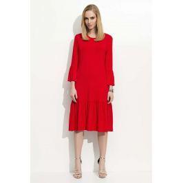 Czerwona Sukienka w Hiszpańskim Stylu z Wycięciem na Plecach