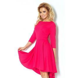 Malinowa Sukienka z Szerokim Asymetrycznym Dołem