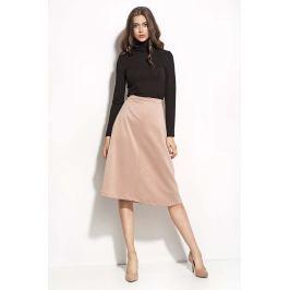 Różowa Rozszerzana Midi Spódnica