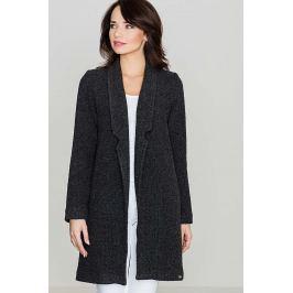Przejściowy Czarny Płaszcz bez Zapięcia