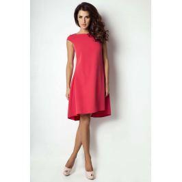 Malinowa Sukienka z Delikatnym Trenem