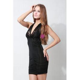 Seksowna Czarna Sukienka Wiązana na Szyi