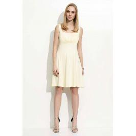 Żółta Sukienka na Szerokich Ramiączkach