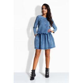Jeansowa Sukienka z Obniżonym Stanem