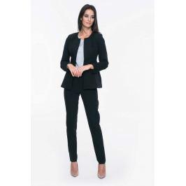 Czarny Żakiet Elegancki Minimalistyczny bez Zapięcia
