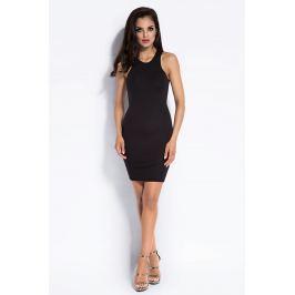 Czarna Sukienka Mini Typu Bokserka