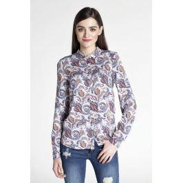 Kwiatowa Klasyczna Koszula z Podpinanym Rękawem