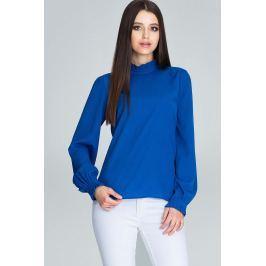 Niebieska Bluzka ze Stójką z Riuszką