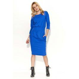 Chabrowa Sukienka Bombka z Kieszeniami