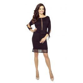 Czarna Wygodna Sukienka z Siateczką