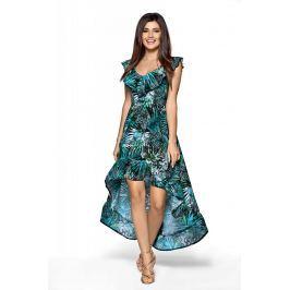 Elegancka Maxi Wzorzysta Sukienka w Typu Hiszpanka