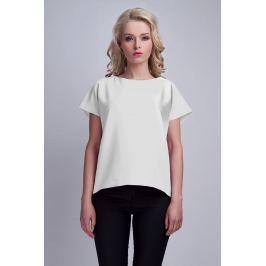 Biała Ciekawa Bluzka z Kopertowym Założeniem na Plecach Bluzki i bluzeczki damskie