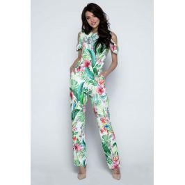 Kolorowy Kombinezon z Wyciętymi Ramionami Spodnie eleganckie damskie