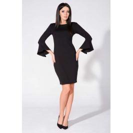 Czarna Sukienka Dopasowana z Dekoltem na Plecach Sukienki i suknie