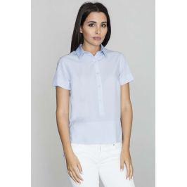 Niebieska Bluzka Polo z Krótkim Rękawem