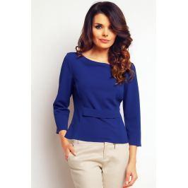 Prosta Niebieska Elegancka Bluzka Bluzki i bluzeczki damskie