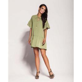 Zielona Dziewczęca Sukienka Letnia z Falbankami Sukienki i suknie