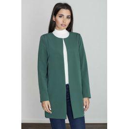 Zielony Pudełkowy Kobiecy Płaszcz bez Zapięcia Pozostała odzież damska