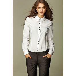 Klaszyczna Biała Koszula w Nowoczesnym Stylu z Barwnymi Guzikami