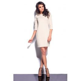 Beżowa Mini Sukienka z Kapturem Sukienki i suknie