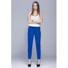 Niebieskie Spodnie Garniturowe w Kant Spodnie eleganckie damskie