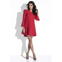 Czerwona Sukienka Mini o Linii A z Dekoltem na Plecach