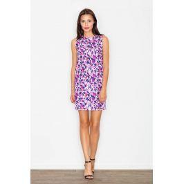Sukienka we Wzór Odcienie Fioletu Sukienki i suknie